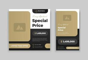 real estate post and story design template vector