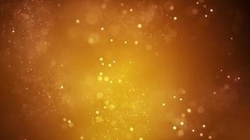 hermosas partículas doradas brillantes video de fondo de fiesta y concierto brillante