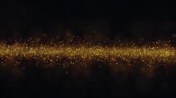flygande gyllene partiklar glittrande bakgrundsvideo video