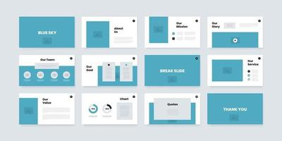 powerpoint and keynote presentation slides design template vector