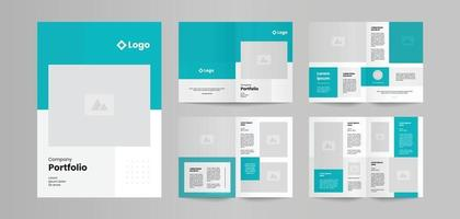 modern business brochure design template vector