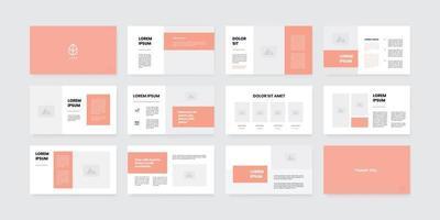 plantilla de diapositivas de powerpoint de estilo minimalista vector
