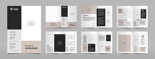 modern company product catalogue design template vector