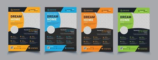 House repair cover A4 template for a construction tools report and brochure design vector