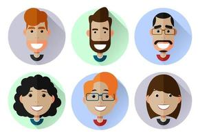People avatars Set of smiling faces vector