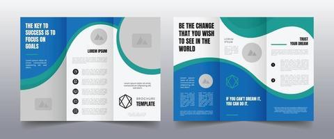 modern trifold business brochure template vector
