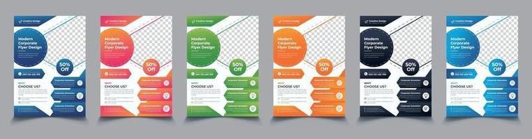 New Modern Corporate Business Flyer Template set vector