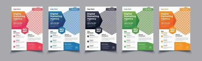 flyer template with minimalist layout set vector
