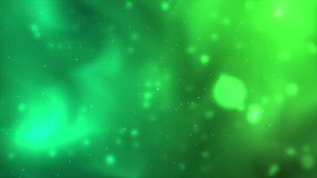 Green space floating particles background video