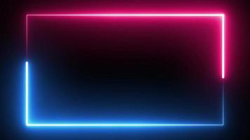 néon lueur couleur fond carré qui coule video