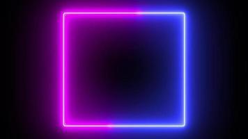 néon qui coule lueur fond carré rouge et bleu video