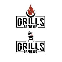 simple modern premium Barbecue logo design  Food or grill template Vector illustration concept