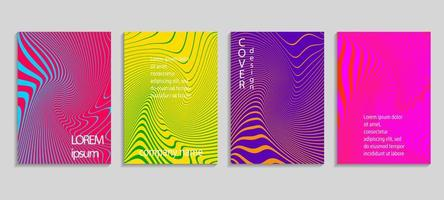 Minimal abstract vector halftone cover design template