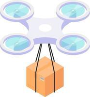 Isometric drone icon vector