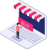 Isometric buy icon vector
