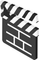 Isometric clapboard icon vector