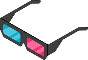 Isometric 3D glass vector