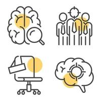 Linear vector icons for recruitment campaign