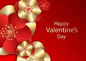 Romantic background Valentines day concept vector