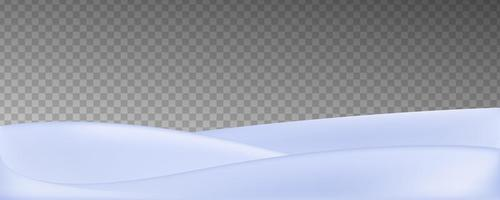 Vector realistic snow field isolated on transparent background