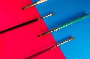 Tassel for manicure and pedicure closeup photo