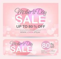 Mother day sale discount banner template promotion vector