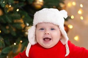 Christmas baby is smiling photo