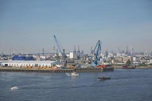 Port of Hamburg on the river Elbe, Germany photo
