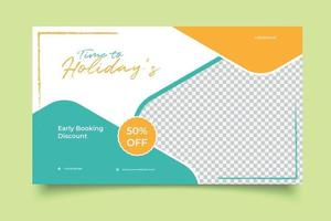 template banner travel agency vector