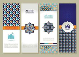 Banners set of ethnic design. Religion abstract set of layout. vector