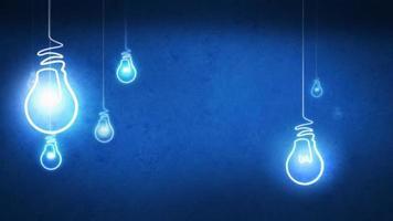 Idee Glühbirne schleifen Hintergrund video