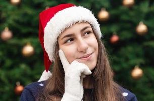 Dreamy Christmas woman photo