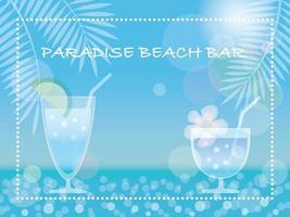 vector ilustración de fondo de verano con bebidas tropicales y espacio de texto