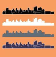 Sacramento California city silhouette vector