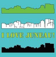 silueta de la ciudad de juneau alaska vector