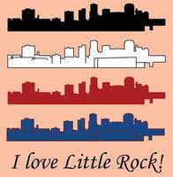 Little Rock Arkansas vector