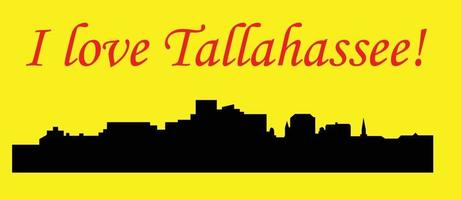 Tallahassee Florida city silhouette vector
