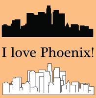 Phoenix Arizona city silhouette vector