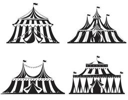 Set of different circus tents vector