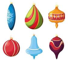 Set of Christmas tree toys vector