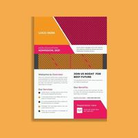 Colorful Modern Business Flyer Template Design vector