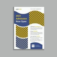 School Admission Leaflet Flyer Template Design vector