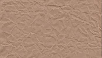 Crumpled kraft paper Textured vintage background Vector stock illustration