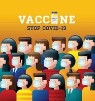 Vaccine Stop Covid 19 coronavirus vector