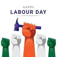 Happy labour day vector