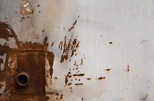 pared de metal oxidado foto