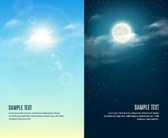 Day and night illustration vector