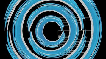round circle brush pattern background vector