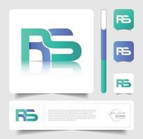 RS logo design vector