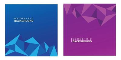 blue and purple triangle geometric background vector
